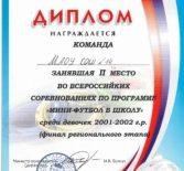 Всероссийские соревнования по программе «Мини-футбол в школу»