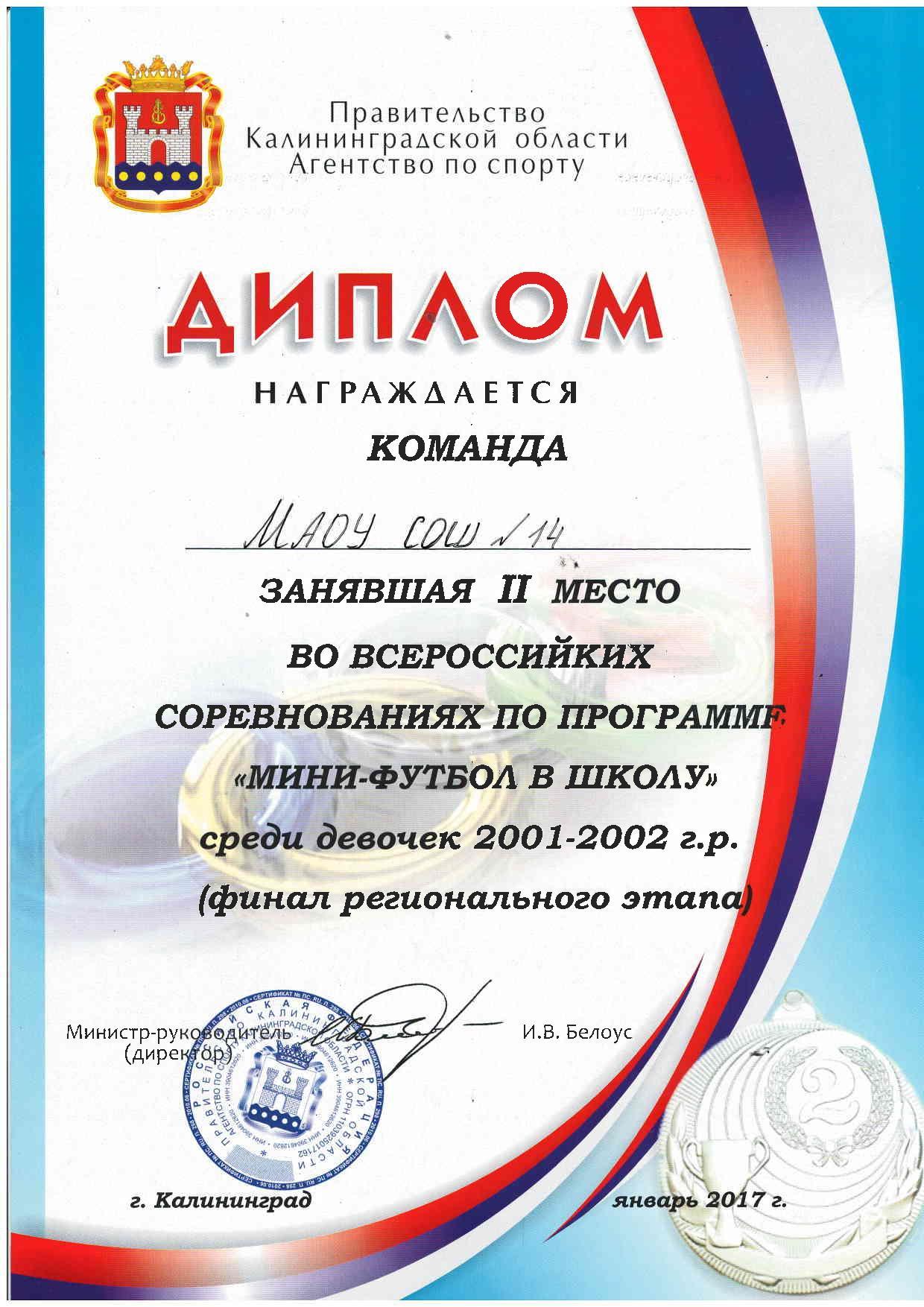 Всероссийские соревнования по программе Мини футбол в школу  Всероссийские соревнования по программе Мини футбол в школу