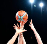Cоревнования по баскетболу.