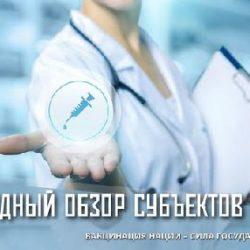 «Вакцинация нации — сила госудаства !»- сводный обзор субьектов РФ